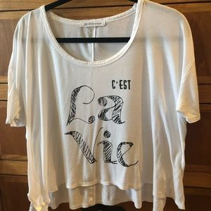 BCBGeneration Crop Tee Shirt Too/ GUC / Size: MED.